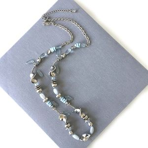 Chico's Silver and light blue necklace